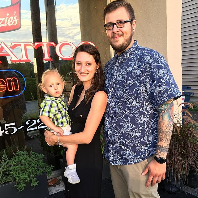 Snazzy family out front! More #healedtattoos #futurecustomer #krackentattoo #mackenziestattoo #carmelny #tattooedfamily