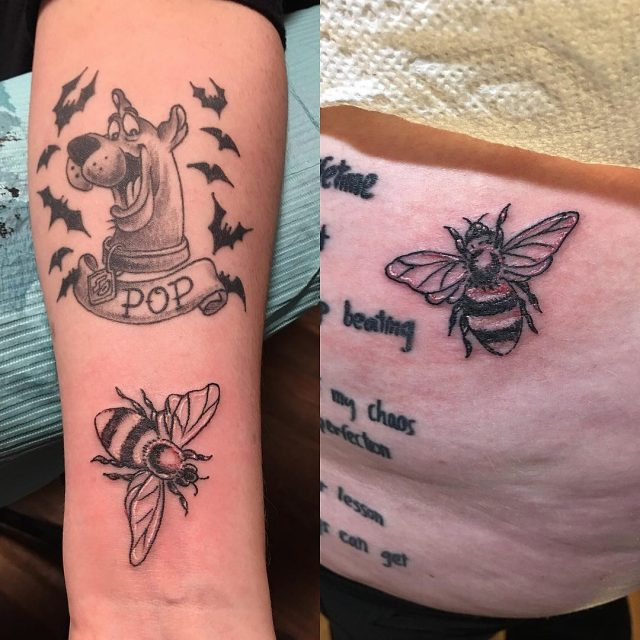 Best Bee's #matchingtattoo #wristtattoo #butttattoo #beetattoos #bumblebee #tattoobliss