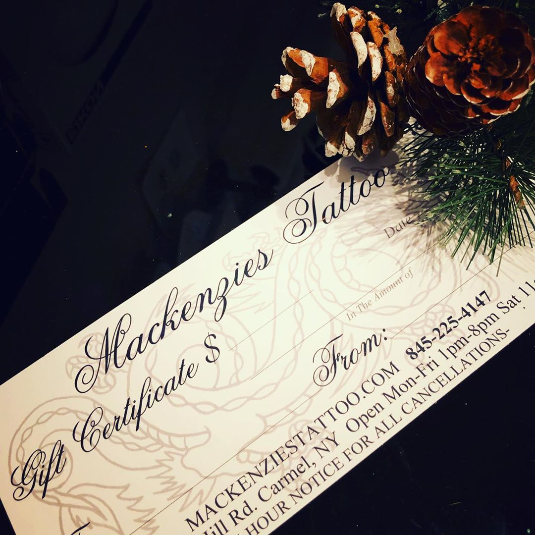 Black Friday Deal! Every Gift Certificate over $200 gets bumped up $50 for extra impact in your tattoo , come down 1-7 Black Friday , Have a great Thanksgiving , let's kick off the holiday season right! #blackfridaydeal #giftcertificatesavailable #mackenziestattoo #tattoos